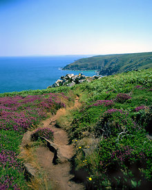 coastal scene zennor near st ives penwith far west of cornwall south west