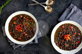 Black Lentil Sesame Coconut Soup