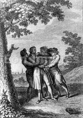 John Andre taken into custody by New York militiamen