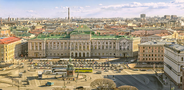 View on Mariinsky Palace and St. Isaac's Square in Saint Petersburg; Russian Federation