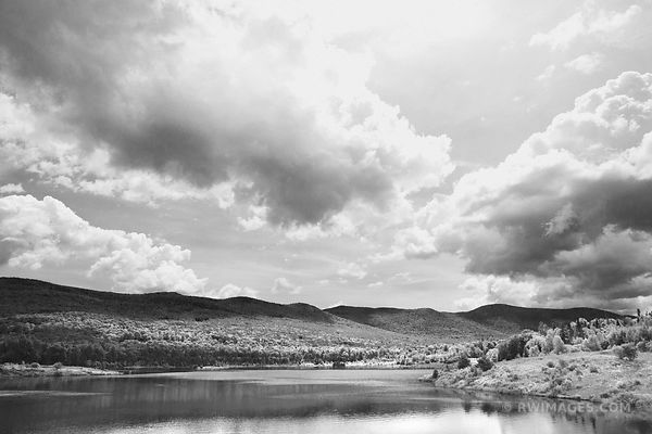 BLUEBERRY LAKE VERMONT BLACK AND WHITE