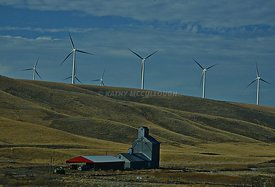 Eastern Washington ranch and wind towers