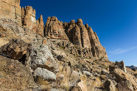 Clarno Palisades in John Day Fossil Beds National Monument
