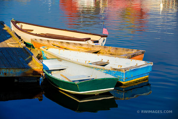 BOATS ROCKPORT CAPE ANN MASSACHUSETTS COLOR