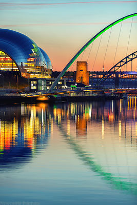 Gateshead Sage and the Millennium Bridge