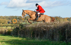 Andrew Osborne jumping a hedge near the meet