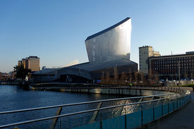 Imperial War Museum North, Salford Quays, Manchester, UK.