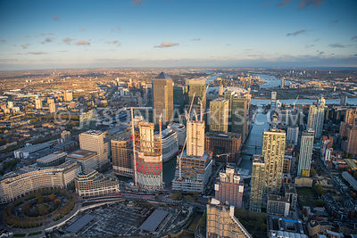 Aerial view of Newfoundland, Canary Wharf, isle of Dogs, London.
