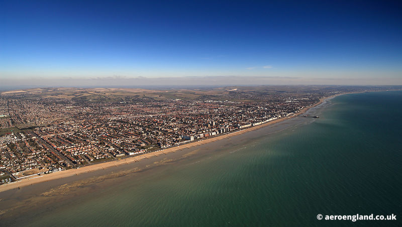 aerial photograph of Worthing West Sussex, England UK
