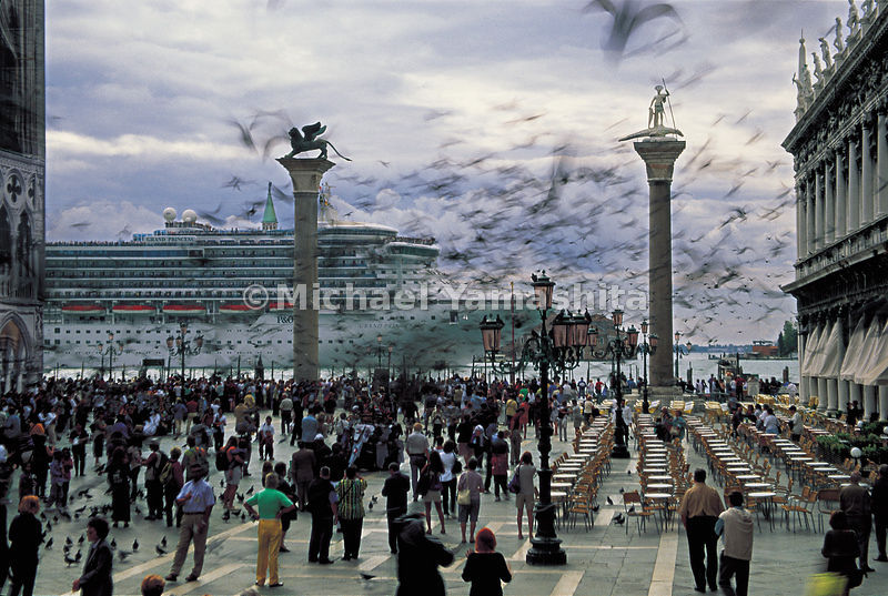 The Grand Princess appears in the setting of Saint Mark's Square.