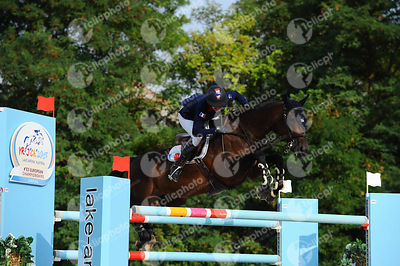 CONDE FERREIRA Camille, (FRA), PIROLE DE LA CHATRE during  competition at European Jumping Championship for Children, Juniors, Young riders at Lake Arena, Wiener Neustadt - Austria