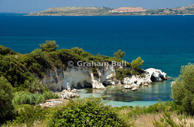 Kalamia Beach, Lassi, Argostoli, Kefalonia, Ionian Islands, Greece.