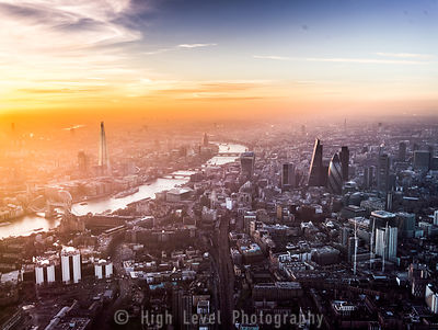 Sunrise/Sunset London Kew Aerial Photographs
