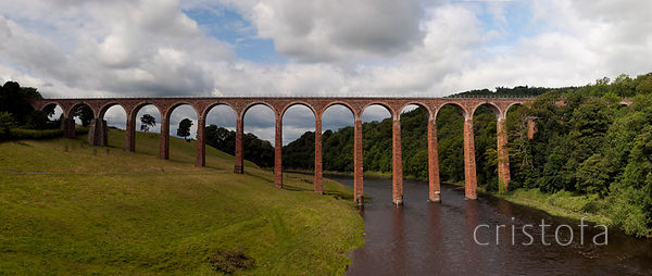 the Leaderfoot railway viaduct over the River Tweed was built in 1863.