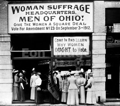 Woman suffrage headquarters in Cleveland, 1912