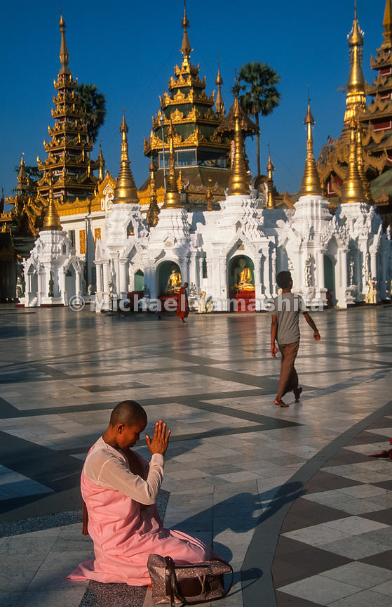 Shwedagon Temple, Yangon's biggest attraction..Yangon, Myanmar