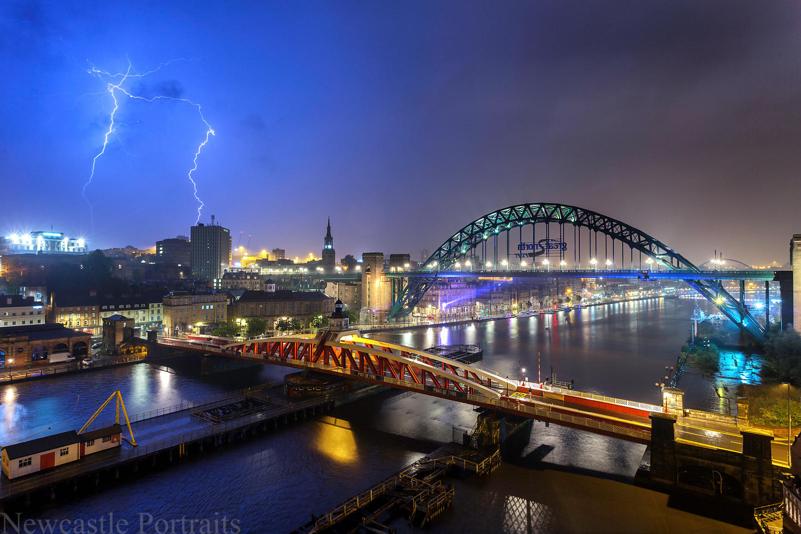 Flash of Lightning over Newcastle.