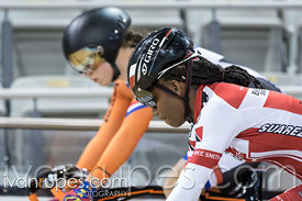 Women Sprint 1/2 Final. Milton International Challenge, Mattamy National Cycling Centre, Milton, On, September 30, 2016