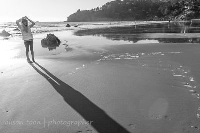 Muir Beach, northern California, in January at low tide
