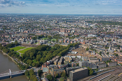 Aerial view of the Royal Chelsea Hospital, London