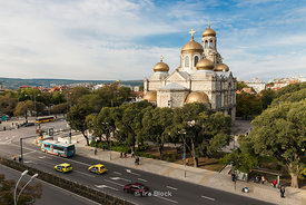 Dormition of the Theotokos Cathedral is the largest and most famous Bulgarian Orthodox cathedral in the Bulgarian Black Sea port city of Varna, and the second largest in Bulgaria.
