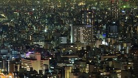 Bird's Eye: Extremely Dense Tokyo Urbanization At Night