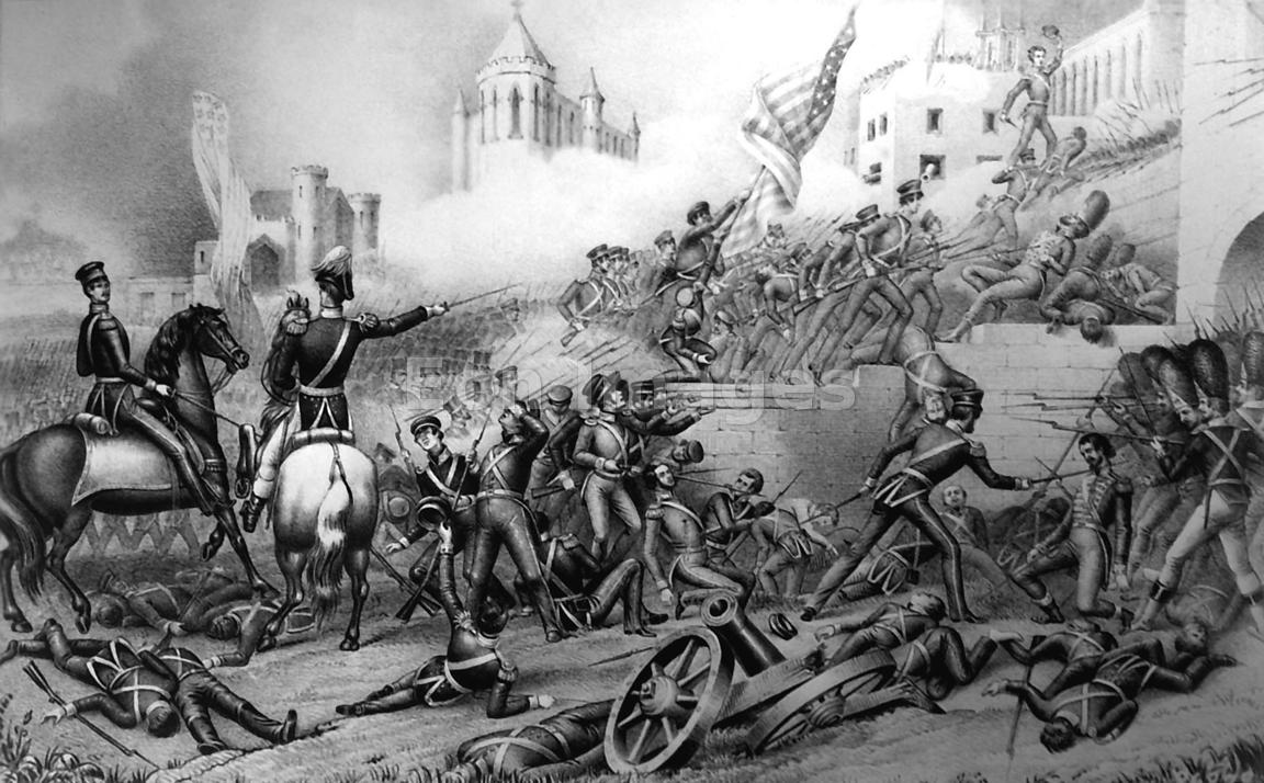 Attack on Bishop's Palace at Monterrey