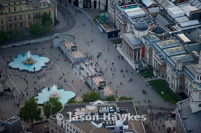 Aerial view of Trafalgar Squre, London