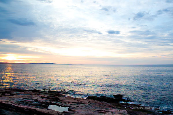 SUNRISE OTTER CLIFF ACADIA NATIONAL PARK