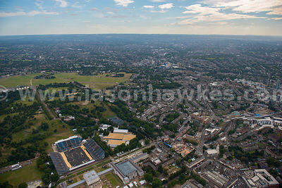 London. Aerial view of Greenwich Park