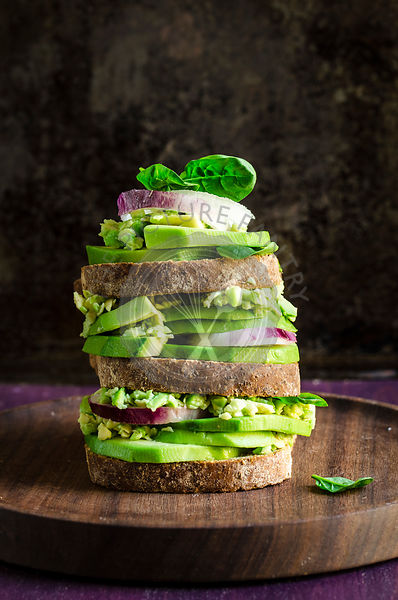 Avocado Toast stacked sandwich