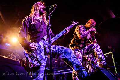Joakim Brodén, and Pär Sundström of Sabaton, at the Ace of Spades, Sacramento