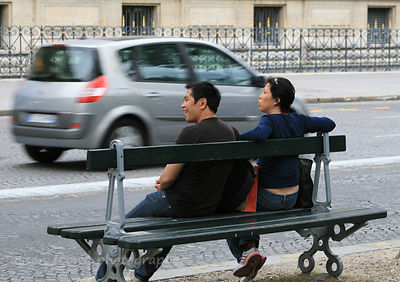 Watching the world go by, Paris, France