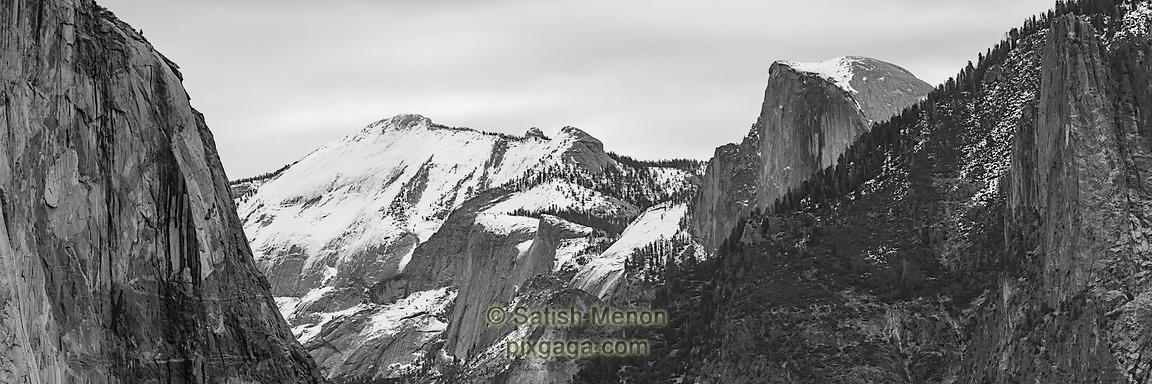 El Capitan and Half Dome, Yosemite National Park, CA, USA