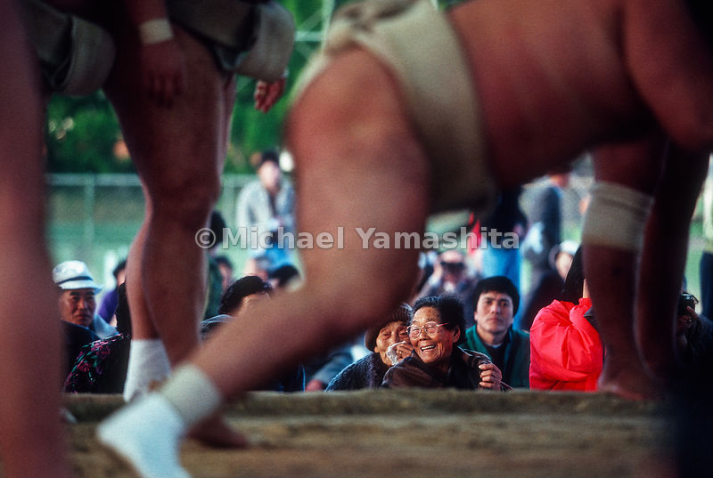 Sumo Wrestlers at exhibition match..Goto Island, Nagasaki, Japan