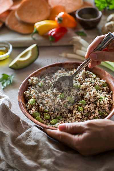 Bowl of Quinoa and Edamame