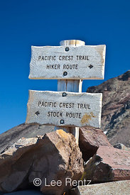Pacific Crest Trail Sign in the Goat Rocks Wilderness