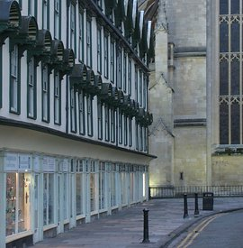 Shops and Abbey, Bath, UK