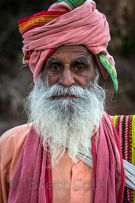 The resident baba at the August Muni cave temple, Pushkar, Rajasthan, India. He told me this is the only photo ever taken of him.