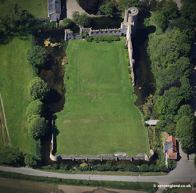 aerial photograph of Caister Castle Norfolk England UK