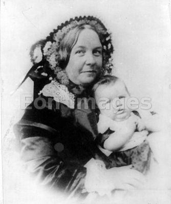Elizabeth Cady Stanton with daughter Harriot