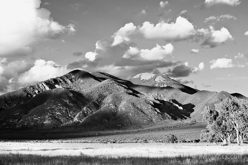 TAOS MOUNTAIN TAOS NEW MEXICO LANDSCAPE BLACK AND WHITE