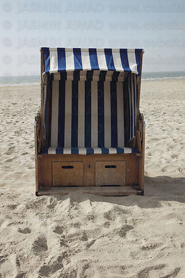 Beach Chair at the German North Sea coast  Norderney