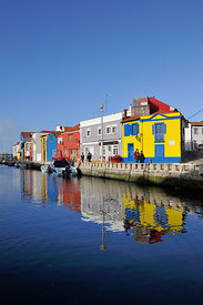 The historical centre of Aveiro and the river. Portugal