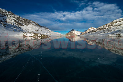 The Sky over Lago Bianco at Bernina Pass - Switzerland photos