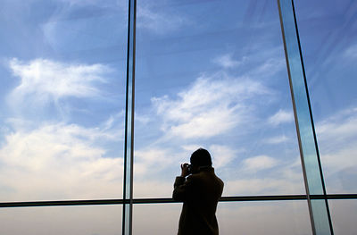 Japan - Kyoto - A woman photographs over Kyoto