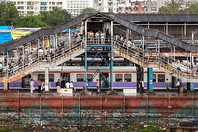 Bandra Railway Station, Mumbai, India.