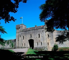 caldicot norman castle near chepstow gwent south wales