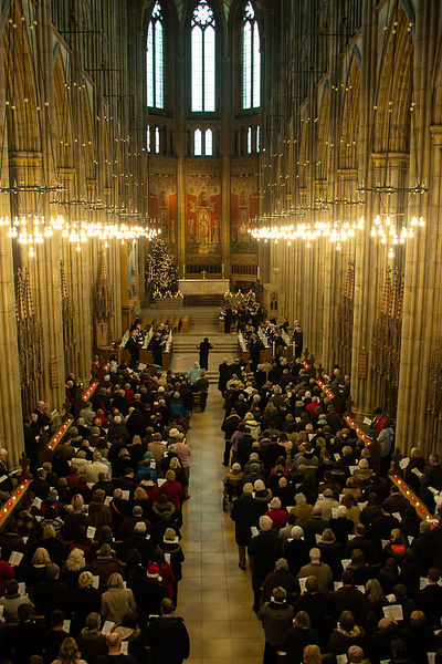 Lancing College  Carols  photos