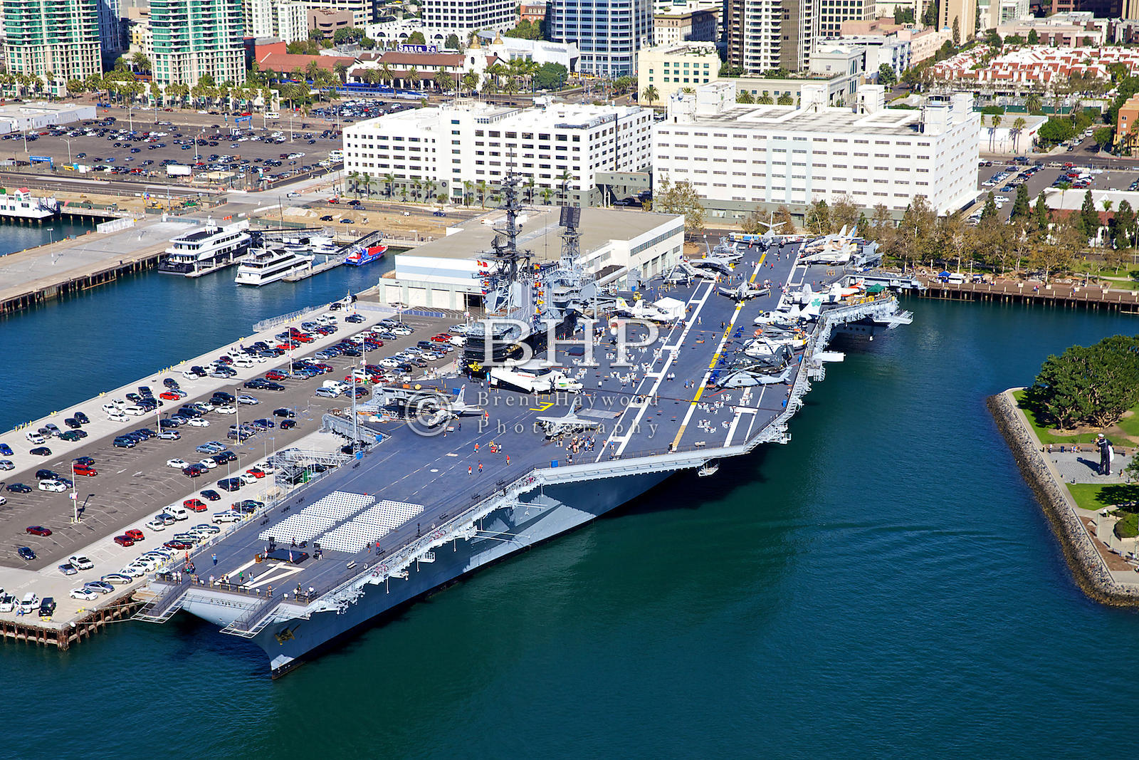 Brent haywood photography uss midway aerial photo for Brent carrier